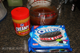brownies, oreos and peanut butter
