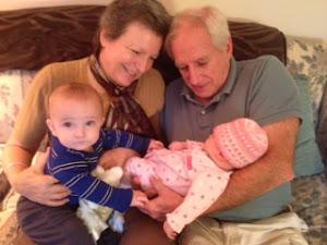 Grandma & Grandpa with Josiah & Annalise