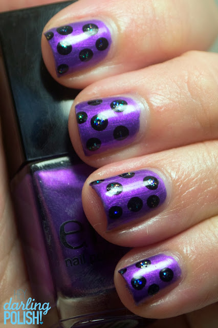 Nails, Nail Art, Dotticure, Dots, Polka Dots, ELF Metal Madness, Hey Darling Polish