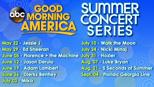 Good Morning America Live Tickets : Average socialite™ good morning america concert