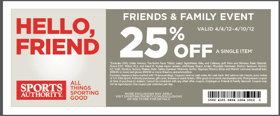 Printable coupon blogspot sports authority