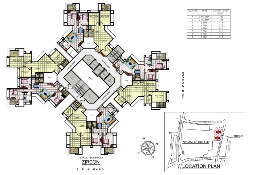 Multiplex Apartment Plans