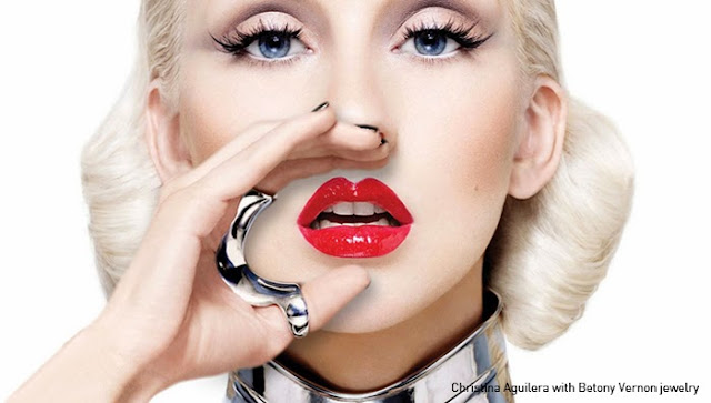 Fetish Inspirations : Christina Aguilera With Betony Vernon Jewelry