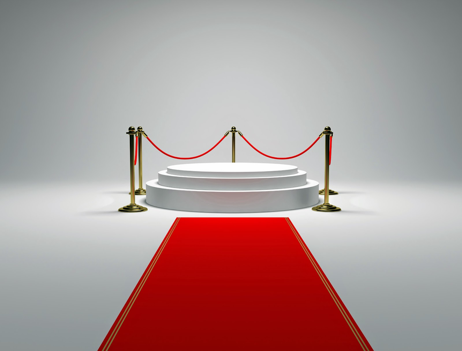 Circular booth with guardrails on the red carpet  wallpaper
