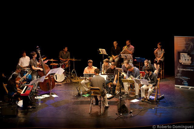 La David Mengual Free Spirits Big Band al completo