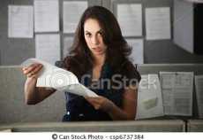 trabalhadora frustrada