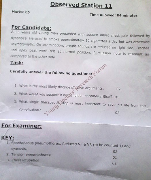 Objectively structured performance evaluation (OSPE ) - Medicine OSPE OSCE for Final Year MBBS - UHS 2009
