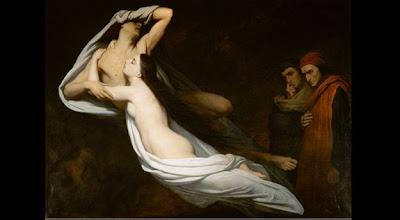 Le ombre di Paolo e Francesca, quadro del pittore Ary Scheffer