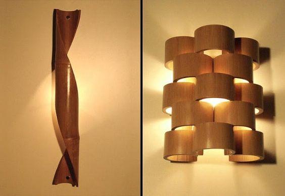 Luminárias de bambu