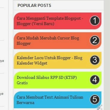 Cara Mudah Membuat Widget Popular Post Warna-Warni di Blog