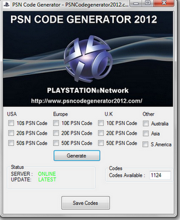 Playstation plus voucher code generator