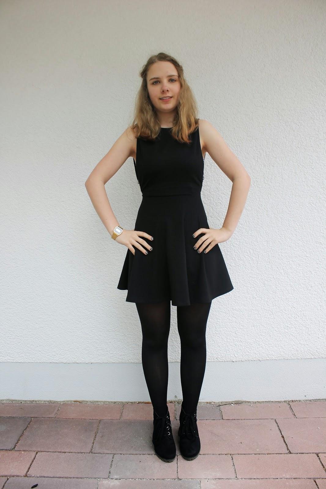 fairfashiontalk outfit schwarzes kleid. Black Bedroom Furniture Sets. Home Design Ideas