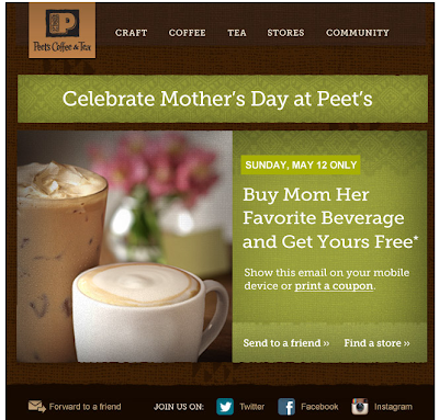 Buy Mom Her Favorite Beverage and Get Yours Free