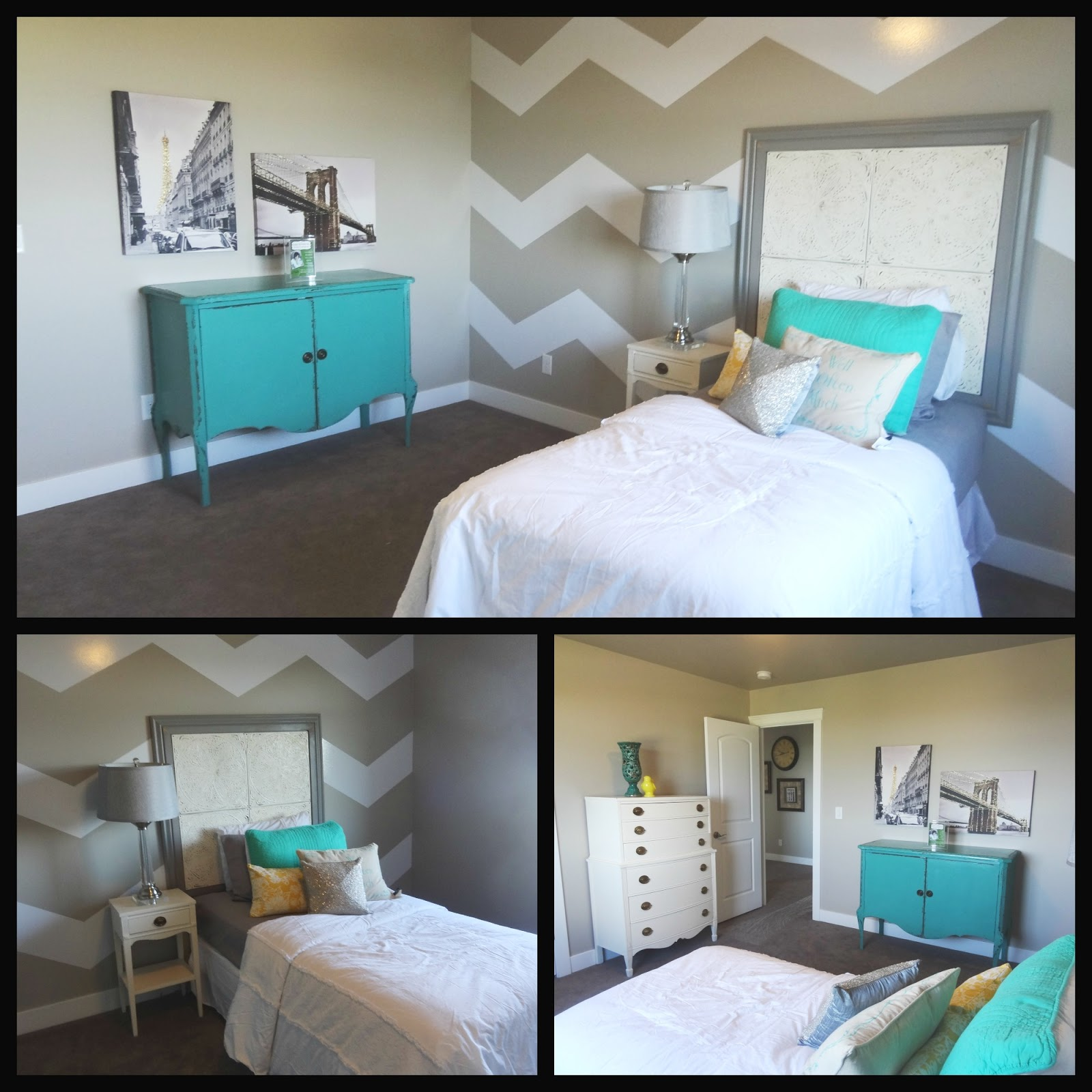 chevron bedding teen room instead of the diamonds chevron kids room