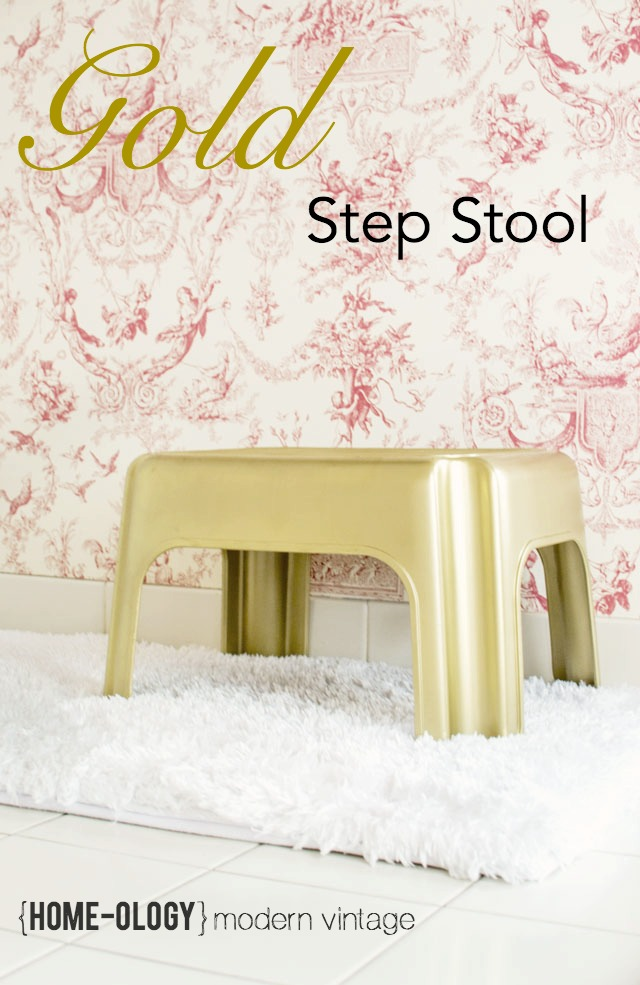 gold step stool