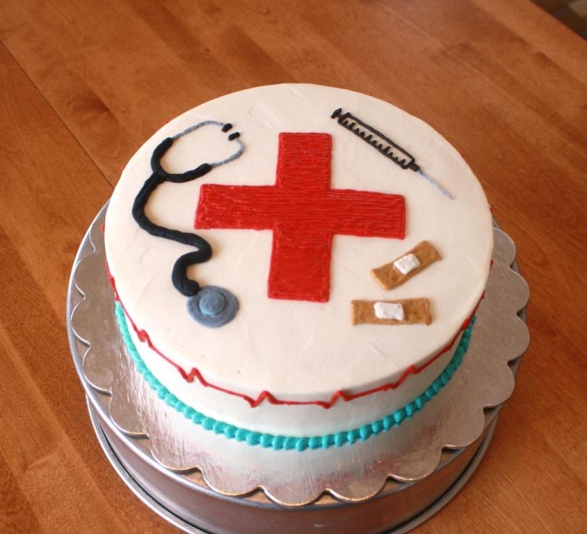 Cake Decorating Nurses Theme : Party Cakes: Nurse Appreciation Cake