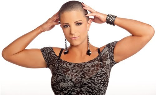 mickie james get her head shaved on vido