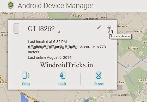 How to locate Android Devices using Google and Android Device Manager