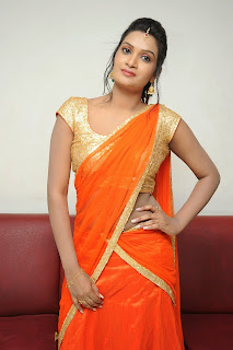 Actress Srivani Reddy Pictures in Half Saree at Antha Akkade Jarigindi Audio Launch  011
