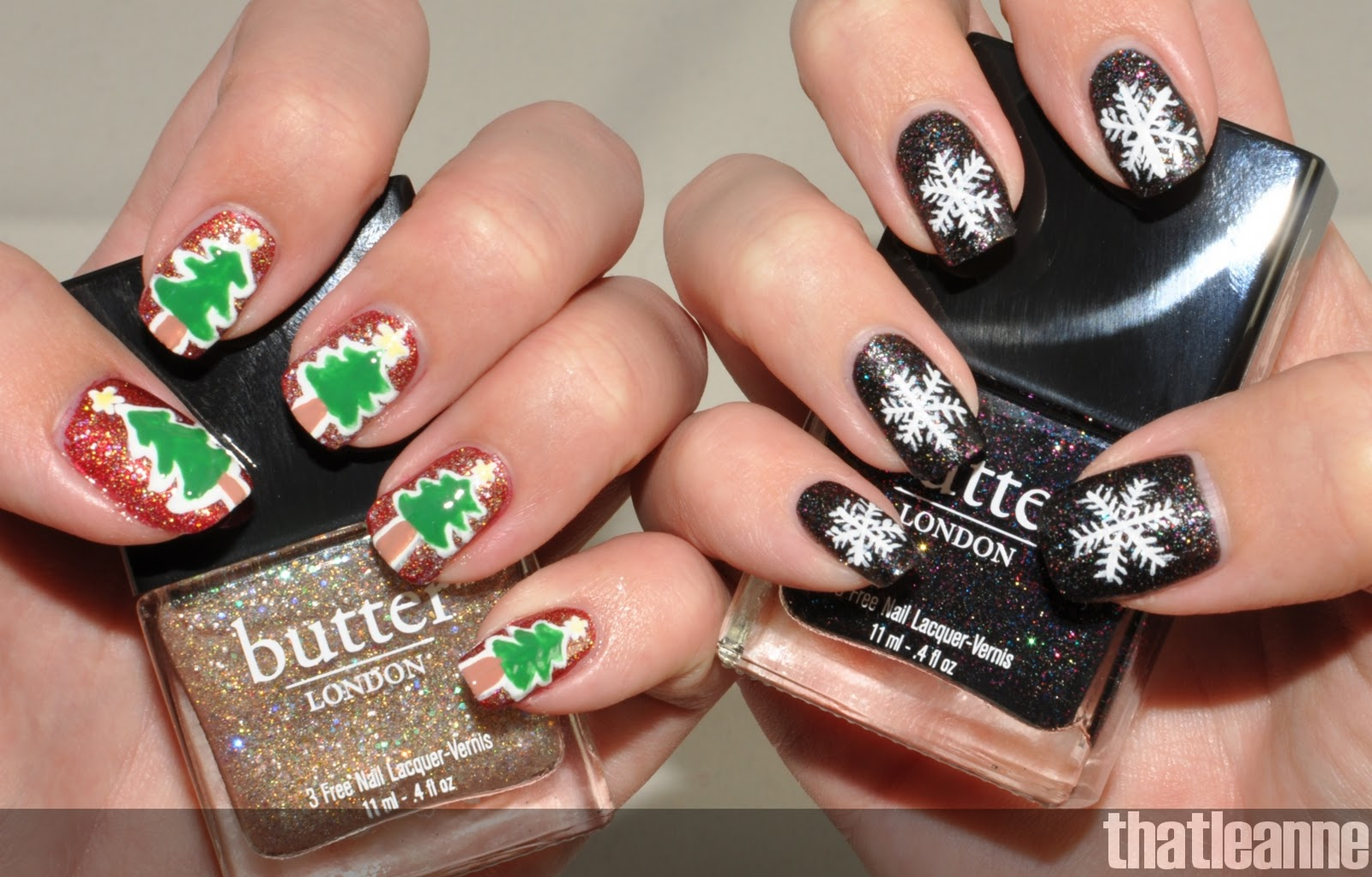 Nail art pictures nail art ideas christmas simple holiday nail art ideas feat butter london holiday 2011 prinsesfo Image collections