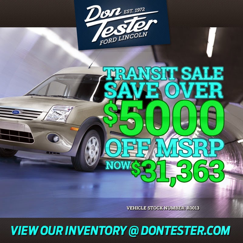 Big Savings This Month at Don Tester Ford Lincoln!