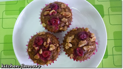 thb : cranberry-oatmeal-walnut cake