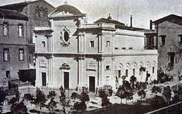 Chiesa SS.ma Trinità dei greci a Pisa prima della demolizione intorno al 1942