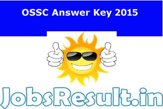 OSSC Answer Key 2015