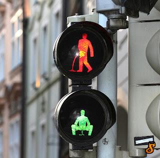 funny traffic light