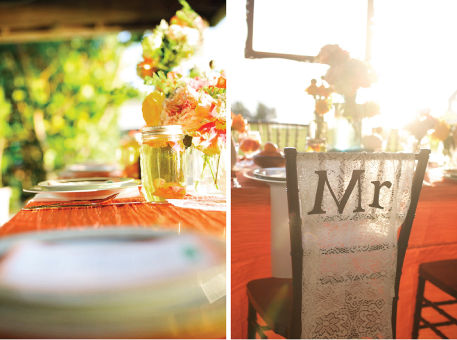 Rustic Tangerine Tango Wedding Inspiration - Belle The ... Tangerine Tango Wedding