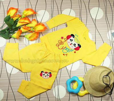 Bộ Gấu Nghe Nhạc dành cho bé trai màu Vàng - Babystyle.com.vn