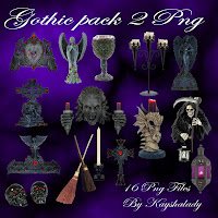 Gothic pack 2 PNG tubes
