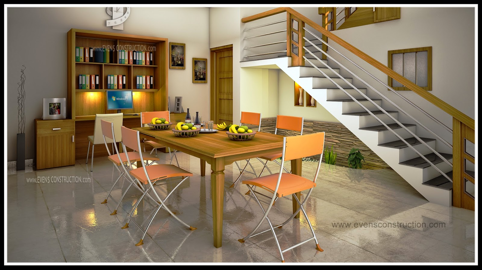 Dining room interior home for Dining room designs kerala