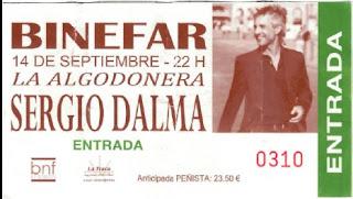 entrada concierto binefar Sergio Dalma