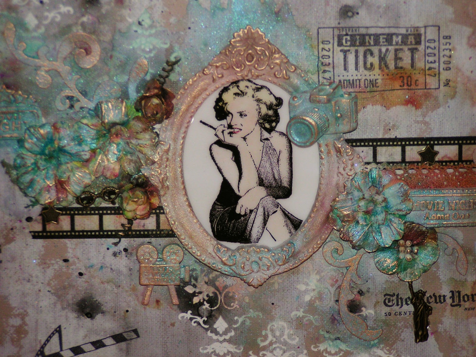 At Stamps Mixed Media Cinema Mit Anleitung