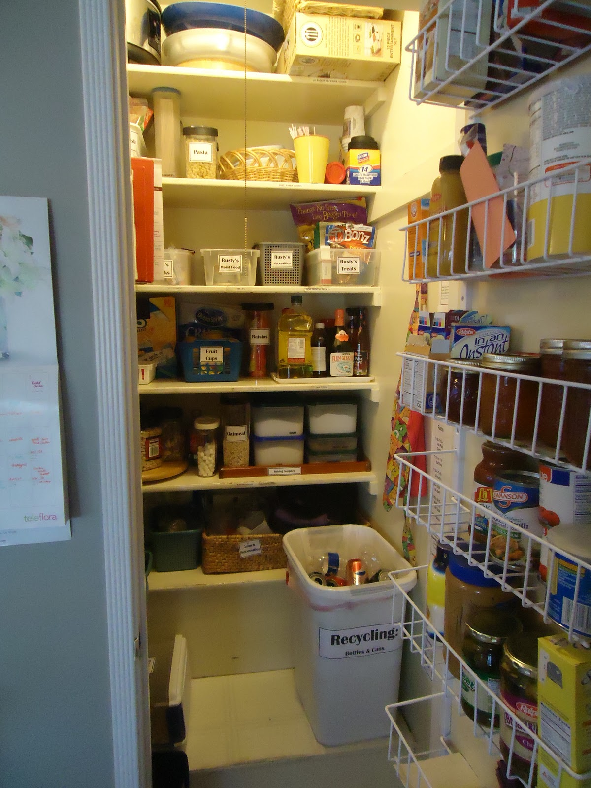 Notice I Added A Rack On The Door To The Pantry   Makes A HUGE Difference!