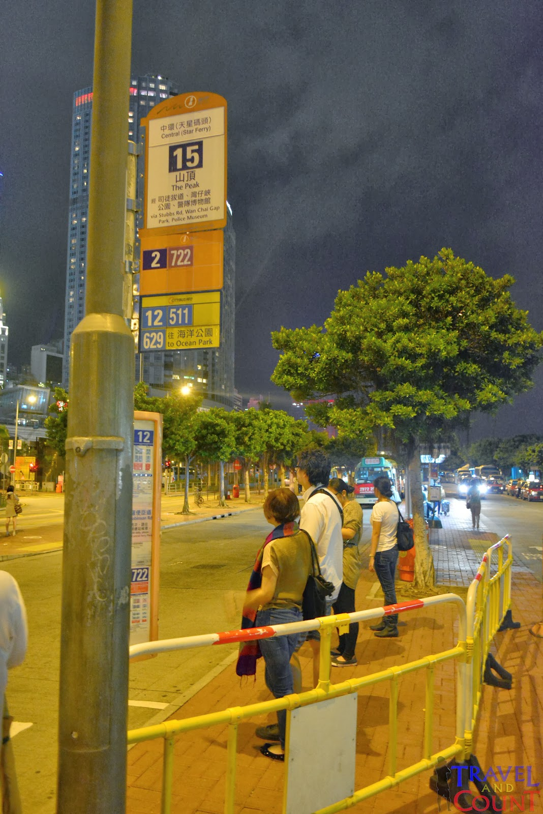 Bus Line Going to the Peak Hong Kong