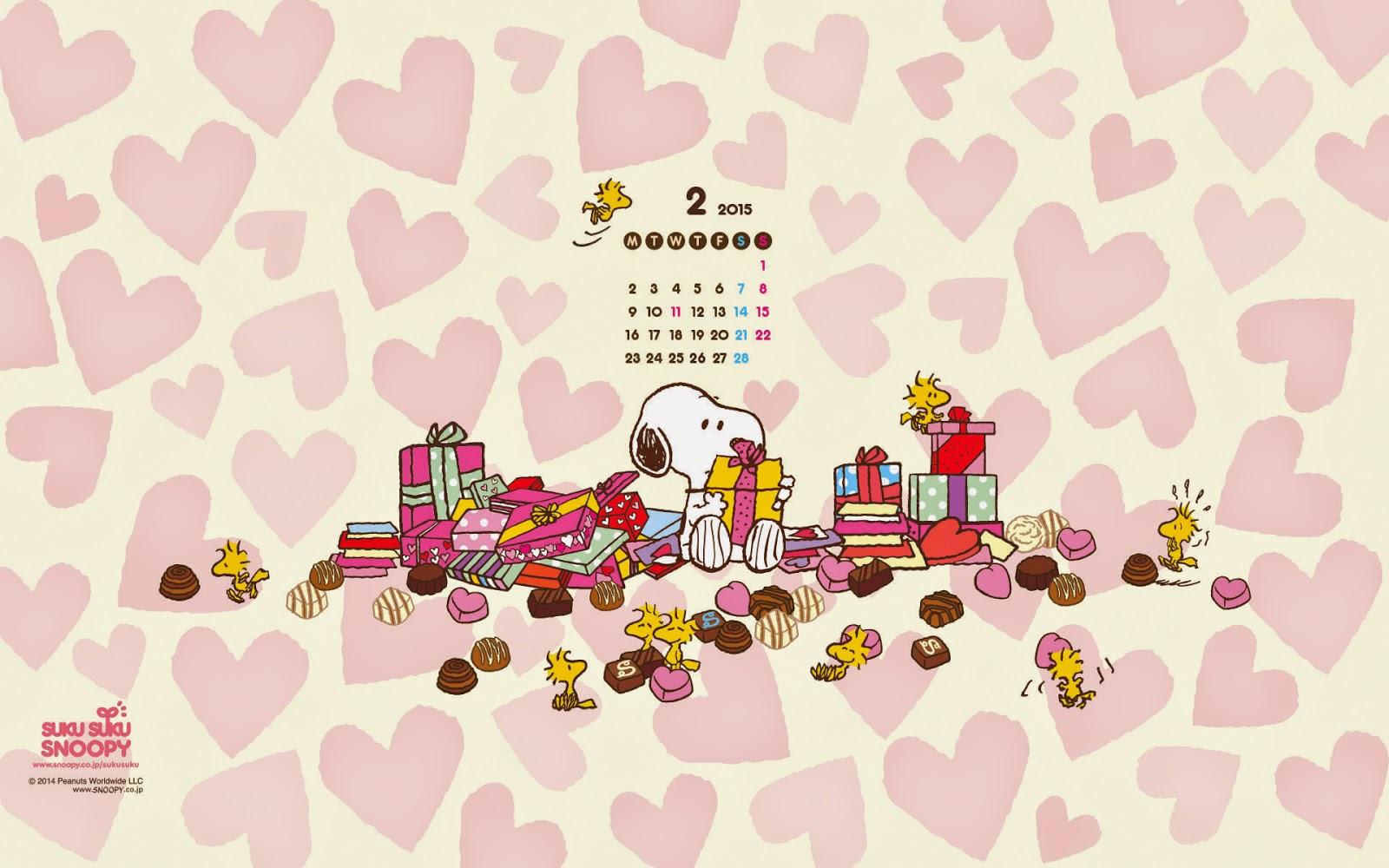 snoopy February 2015 calendar