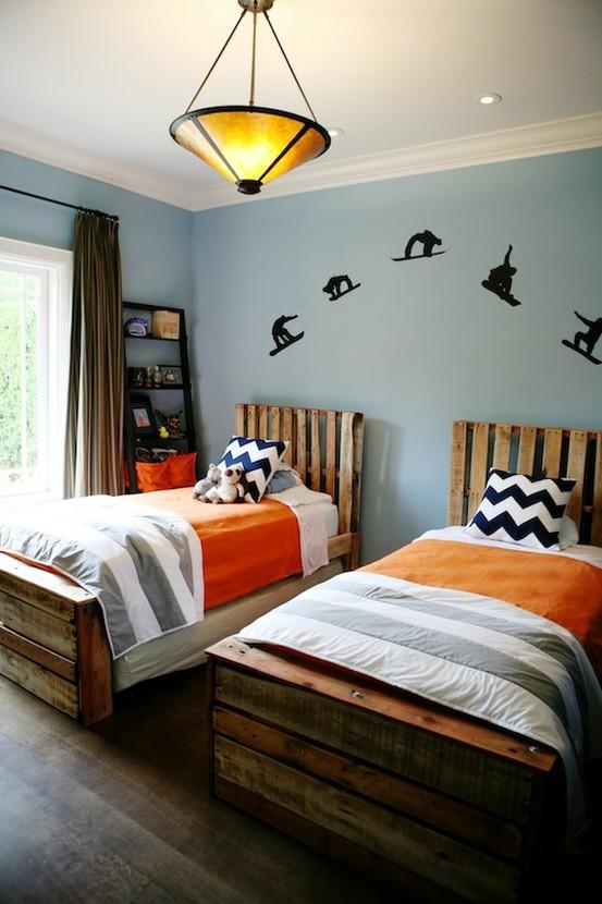 Camas para dormitorio de palets for Camas con palets