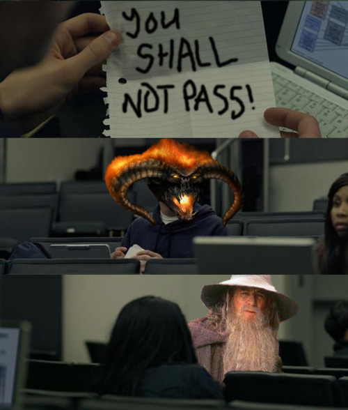 You shall not pass! Gandalf vs Balrog