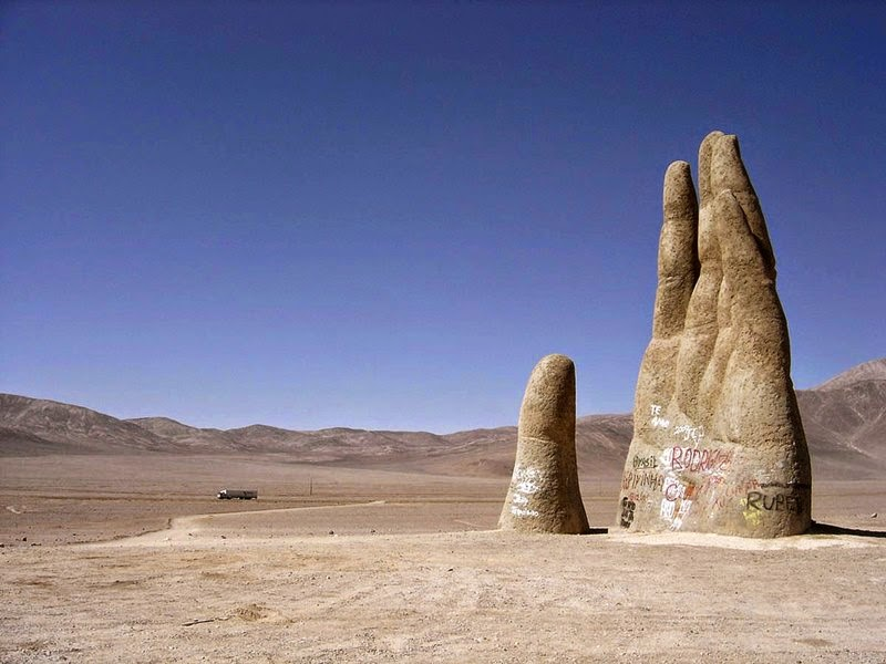 Hand of the Desert, Antofagasta, Antofagasta Region, Chile