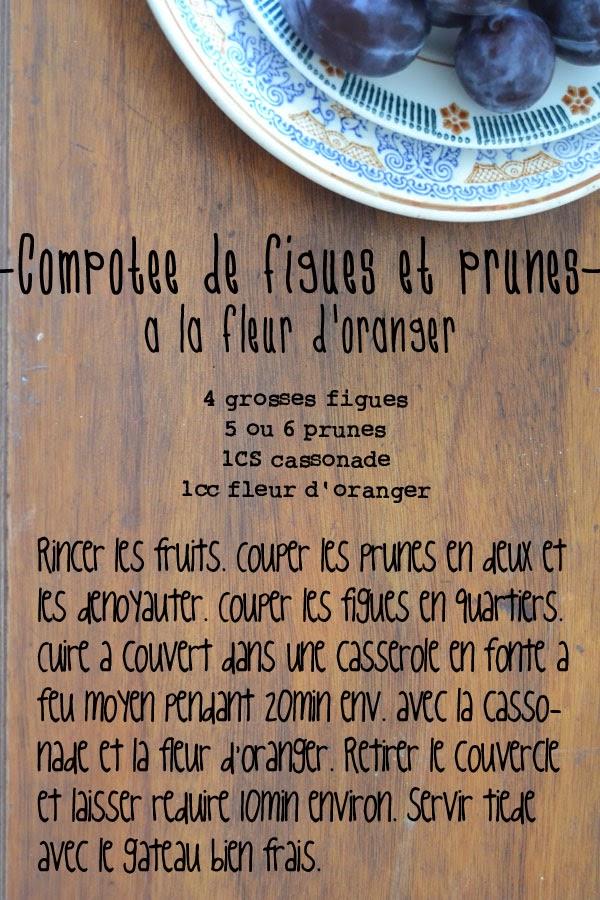 recette compote de figues et prunes