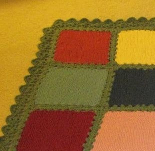 close up of crocheted border