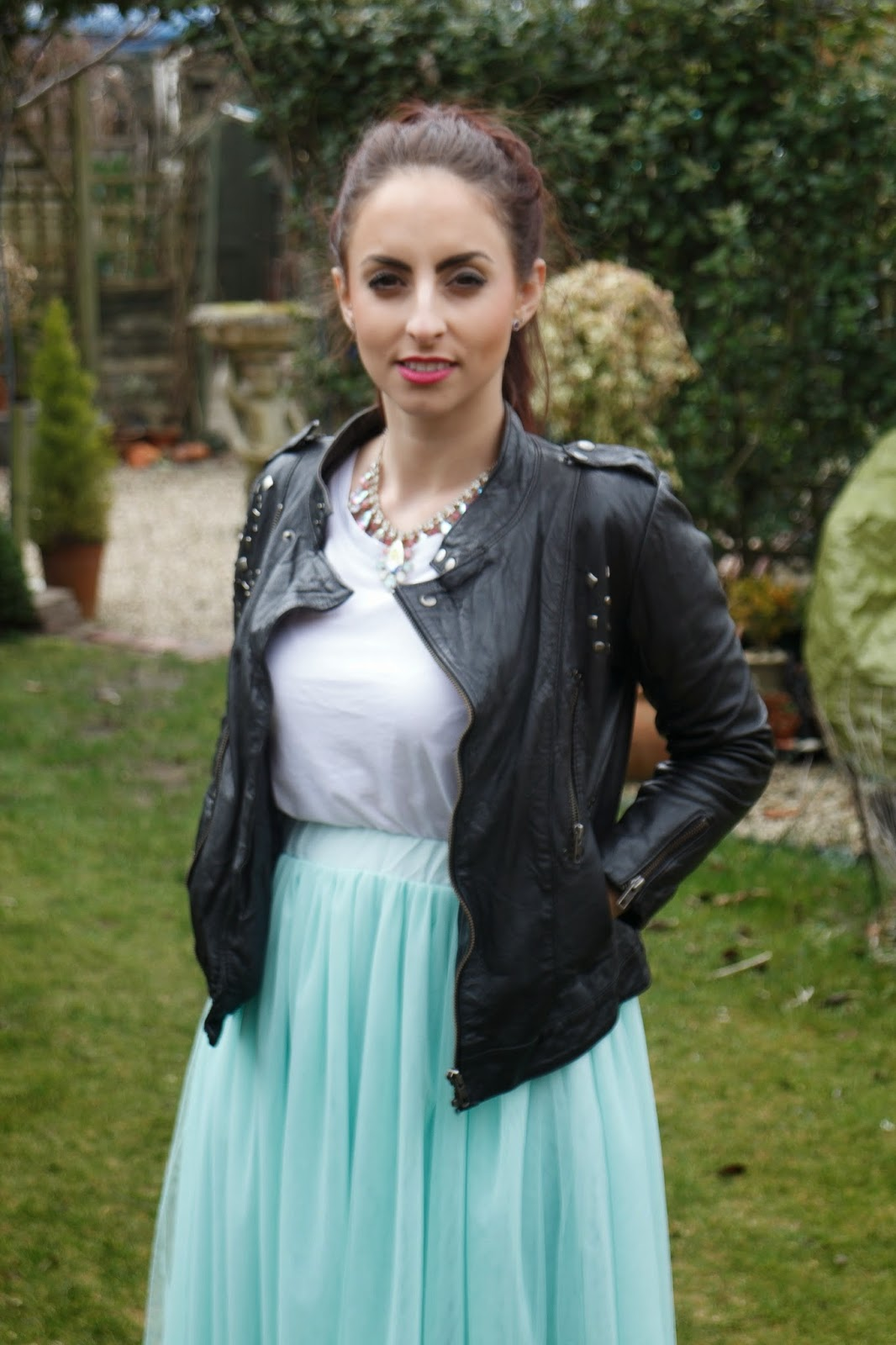 disney princess, tulle skirt, ebay fashion, ootd, street style, leather, how to wear tuille, asos,