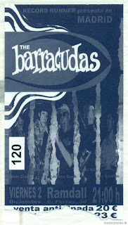 entrada de concierto de the barracudas