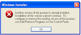 Setup Project Another version already installed error