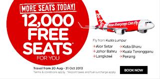 AirAsia,free seat, promotion