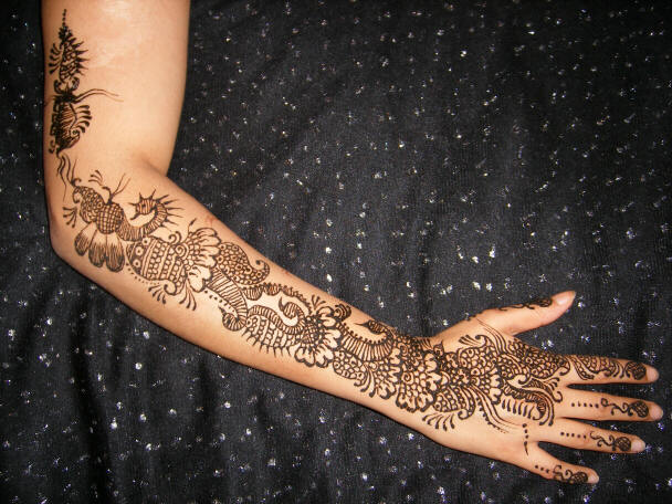 Mehndi Patterns Bridal : Arabic bridal mehndi designs desings
