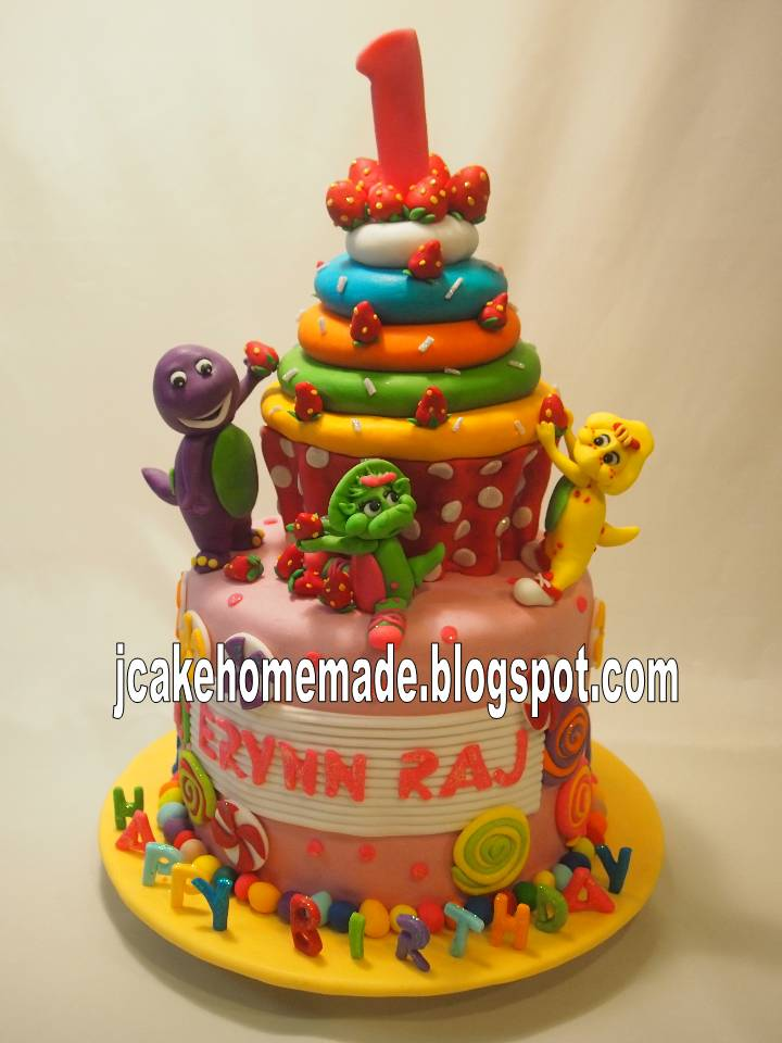 Birthday Cake Images With Name Raj : Jcakehomemade: Barney and friends theme birthday cake
