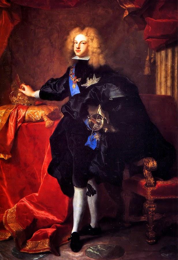 Retrato de Felipe V de España del pintor francés Hyacinthe Rigaud